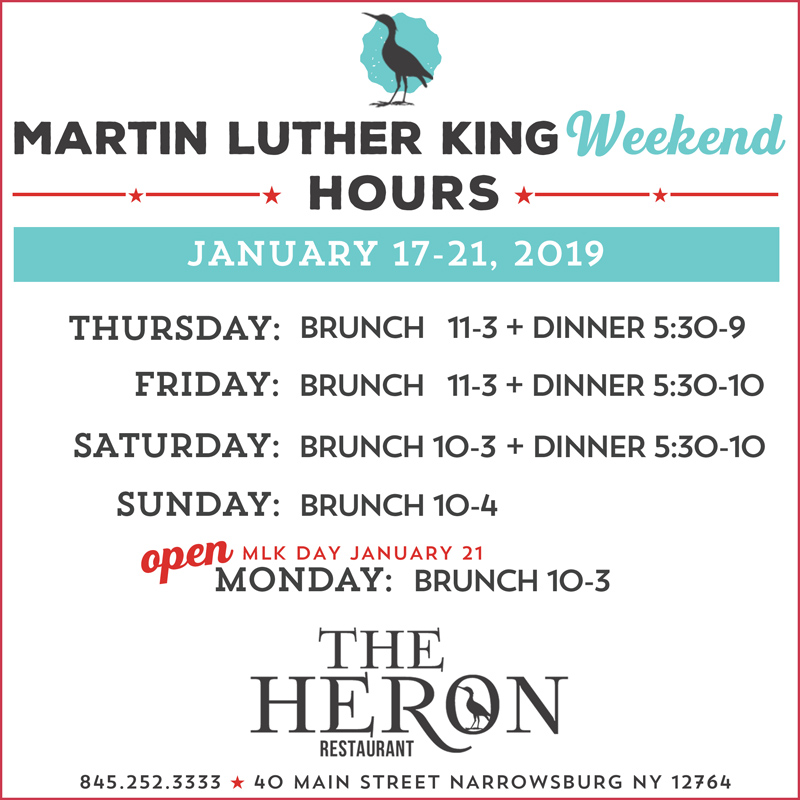 e2ffa5c53a We'll be open for Brunch on MLK Day – Monday January 21 – from 10-3!