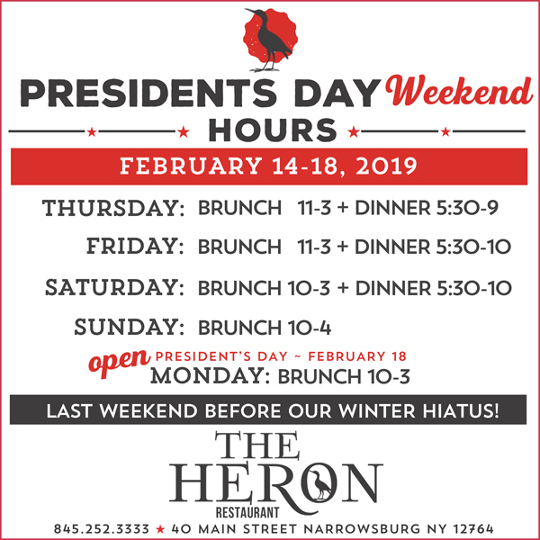 938e1f81d9 Guys, next weekend is Presidents Day Weekend & it's THE LAST WEEKEND before  our annual winter hiatus – come out & see us!