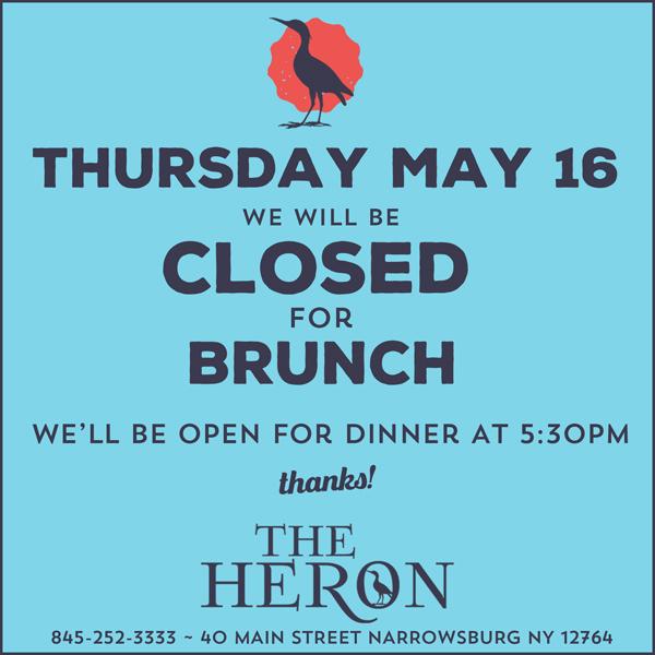 e38f7c8acb The Heron Restaurant | 40 Main Street | Narrowsburg, NY